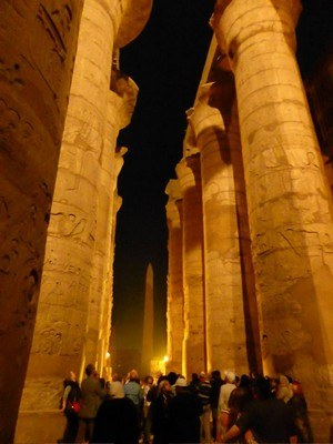 Sound and light show Karnak tempel