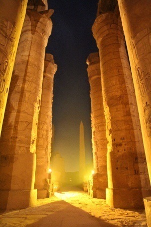 300 Sound en light Karnak tempel in Luxor