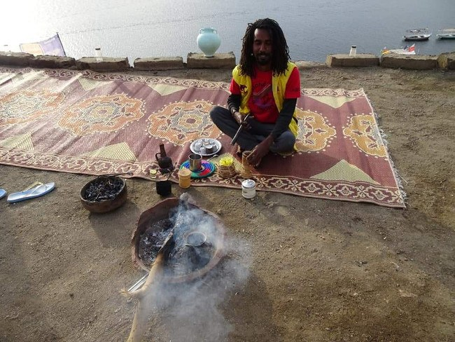 650 barbecue met lokals in Aswan langs de Nijl